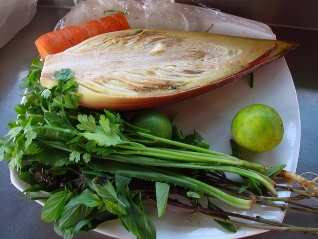 Ingredient for Banana Flower Salad. Photo taken by: fabulousfabs