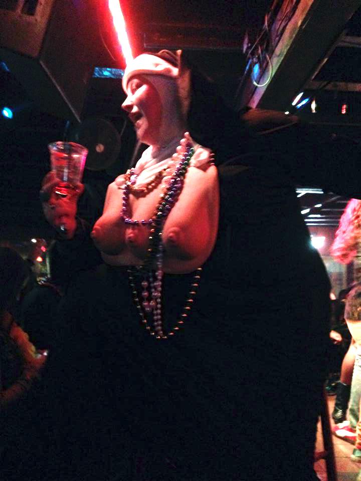 boobed nun in my crazy mardi gras story